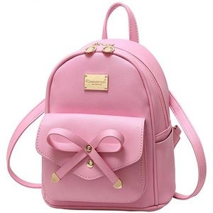 Handbags - Mini Backpack Bowknot Leather-More Colors Avail.